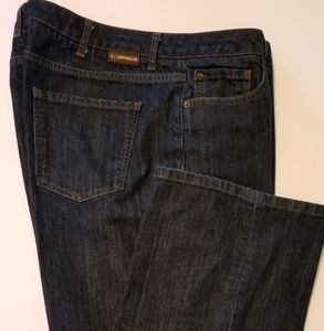 Boden Denim Trouser Jeans Dark Wash Wide Leg 14R